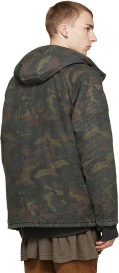 Brown & Green Camouflage Coat