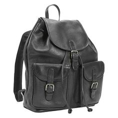 $182  17.0000 x 12.0000 x 6.0000 NEW Leatherbay Leather Laptop Backpack w/Two Pockets -