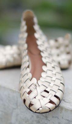Corso Como Gold Friday Weaved Woven Leather Round Toe Slip On Ballet Flats 8 #CorsoComo #BalletFlats #Casual