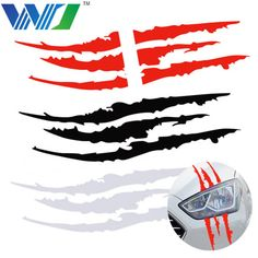 satın almak WJ 40 cm * 12 cm Araba Yansıtıcı Canavar Sticker Siyah/Beyaz/Kırmızı Scratch Şerit Pençe Izleri Araba oto Vinil Araba Sticker Araba Aksesuarları Camaro 2ss, Corvette, Car Lettering, Bike Stickers, Arte Horror, Fox Racing, Tag Design, Car Wrap, Cool Cars