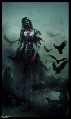 Zombie Woman - so freaking creepy! Dark Gothic, Gothic Art, Arte Horror, Horror Art, Zombies, Evil Dead, Drawn Art, Zombie Art, Zombie Pics