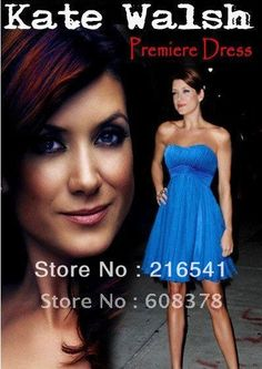 ED239 Strapless above knee Kate Walsh Premiere Dress celebrity dress evening chiffon on Aliexpress.com