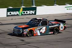 Todd Gilliland came to Iowa Speedway looking to add another win to his racing resume after two victories there in the NASCAR K&N Pro Series West,. Nascar Trucks, Nascar Racing, Kyle Busch Motorsports, Bad Azz, Dale Earnhardt, Camping World, Iowa, Race Cars, Atlanta