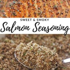 Sweet and Smoky Salmon Seasoning Fish Seasoning Recipe, Grilled Salmon Seasoning, Salmon Marinade, Grilled Salmon Recipes, Seafood Seasoning, Baked Salmon, Seasoning Mixes, Grilled Food, Dressings
