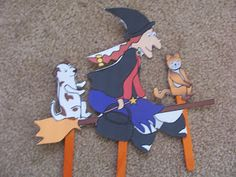 Is there room on the broom for a dog like me? - Homemade puppets!