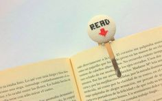 Modern embroidery bookmark handmade  personalized by Gluckhandmade, €8.00