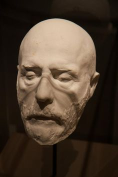 General Robert E Lee, death mask.-The Constitution of the Confederate States BANNED the slave trade.