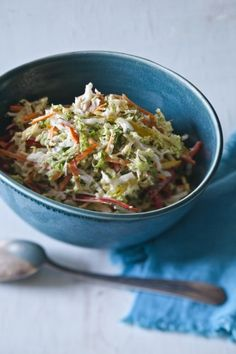 Coleslaw with creamy cumin-lime-dill vinaigrette from Bobby Flay