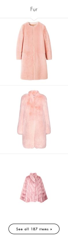 """""""Fur"""" by adelaida0912 ❤ liked on Polyvore featuring outerwear, coats, fur, fur coat, red coat, red fur coat, jackets, pink, fox fur coat and altuzarra"""