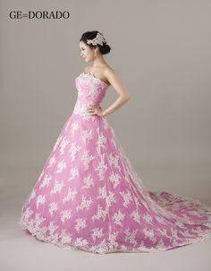 DORADO pink Ball Dresses, Ball Gowns, Bridal Gowns, Wedding Gowns, Strapless Dress Formal, Formal Dresses, Doll Clothes, Photos, Prom