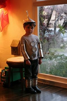 Super cute and easy Tin Man costume