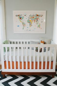 I love how simple these are! Not a huge fan of the art/photo walls for a baby, but I like the overall feel of these nurseries.