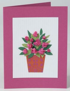How to make a Mother's Day card Flowers vase plant pot leaves children craft sim. - How to make a Mother's Day card Flowers vase plant pot leaves children craft simple How to make a - Mothers Day Crafts For Kids, Fathers Day Crafts, Mothers Day Cards, Homemade Fathers Day Card, Homemade Cards, Mother's Day Activities, Mothering Sunday, Mom Day, Parent Gifts