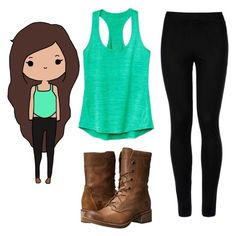"""Untitled #288"" by tasialynn03 ❤ liked on Polyvore featuring Athleta, Wolford and Timberland"