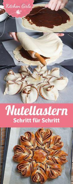Rezept für Nutella-Stern mit Step by Step Anleitung