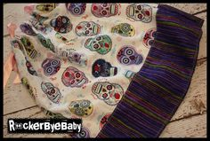 Sugar Skull and Stripes BABY to TODDLER by RockerByeBaby on Etsy, $25.00  My future daughter will wear this dress, or so help me.