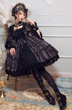 NyaNya Lolita -Carol of the Nightingale- Lolita OP Dress Lucky Pack,Lolita Dresses, Big Fashion, Asian Fashion, Fashion Tips, Ladies Fashion, Fashion Ideas, Fashion Trends, Mode Alternative, Alternative Fashion, Harajuku Fashion
