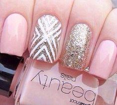 Pretty Pink Nail Design Idea for Prom
