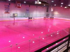 Missouri State has pink ice for breast cancer awareness.  This is cool!