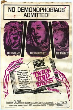 Twice Told Tales (1963) Vincent Price - Movie Poster https://www.youtube.com/user/PopcornCinemaShow