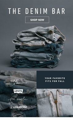 Swell: Your new favorite jeans have arrived. Clothing Photography, Fashion Photography, Product Photography, Lookbook Layout, Fashion Still Life, Email Design Inspiration, Newsletter Design, Web Design, Advertising Photography