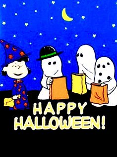 3 ghosts a singing peanuts halloween art - Charlie Brown Halloween Cartoon