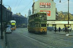 COWCADDENS Cowcaddens Rd heading Near Garscube Rd and near Newcity Rd -Pre 1962 Glasgow Scotland, Scotland Travel, Paisley Scotland, Glasgow City, West End, Old Photos, Britain, Transportation, Places To Visit