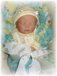 Secrist Preemie Zoe Reborn Baby Doll 17 inch Baby Abigail. $115.00, via Etsy.