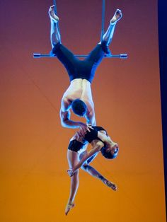 Can you tell I want to start doing doubles trapeze?  Guilhem Cauchois and Sarah Tessier (?)