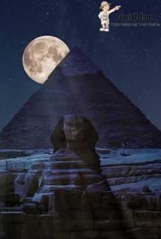 Pyramids of Giza and the Sphinx in the shadow of a full moon ☆ Cairo, Egypt Beautiful Moon, Beautiful Places, Simply Beautiful, Amazing Places, Places To Travel, Places To See, Places Around The World, Around The Worlds, Foto Picture