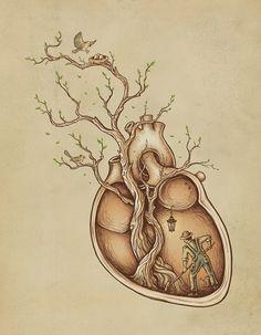 """""""Tree of Life Art"""" - Enkel Dika {anatomical art illustration} Art And Illustration, Illustrations Posters, Illustration Fashion, Creative Illustration, Street Art, Inspiration Art, Tattoo Inspiration, Typography Inspiration, Wow Art"""