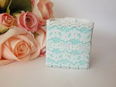 1 mtr x 6cm Width Stretchy Elastic White Lace - Perfect for Wedding Invitations or bomboniere boxes! - Hall Occasions