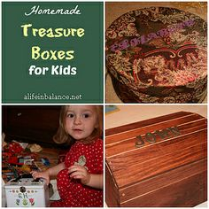 homemade-treasure-boxes-kids by A Life in Balance, via Flickr