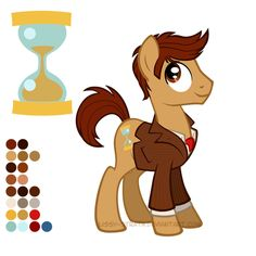 Reference Sheet: Tenth Doctor by *Lissy-Strata on deviantART--Basically, Doctor Whooves.