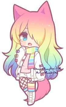 Good morning friends here is my posts hope u like them! Here is the Rainbow Girl! dibujos [Chibi] Pumpkin-Puff 2 by Kougane on DeviantArt Anime Neko, Cute Anime Chibi, Kawaii Chibi, Anime Kawaii, Chibi Cat, Kawaii Neko Girl, Chibi Eyes, Anime Naruto, Arte Do Kawaii