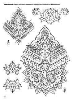 Tattoo flash book №5 - mandalas & ornamental | 66 photos | VK