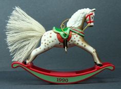 1990 Hallmark Ornament Rocking Horse 10th Vintage