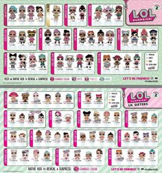 LOL Surprise Checklist Series 2 from (lolsurprise.mgae.com) #lolsurprise #loldolls #lolsurpriseseries2 #lolsurpriselilsisters #loloriginal #lolsurprisedolls #kawaii #collectlol #lolchecklist #dollcollector #loldoll #doll #boneka #bonekalol #кукла #куклаlol #muñeca #muñecalol #bonecalol #bonecalol #人形 #ตกตา