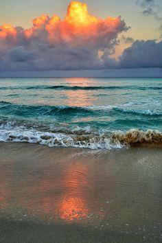 Early morning on Varadero Beach, Cuba byB N.