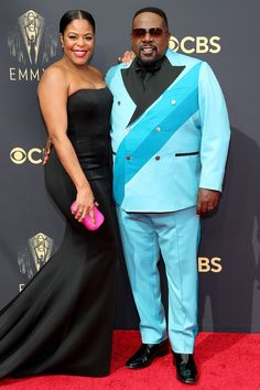 Stars Are Arriving for the 2021 Emmy Awards: See All the Photos from the Red Carpet! Yvette Nicole Brown, Rachel Lindsay, Aidy Bryant, Cedric The Entertainer, Ashi Studio, Samira Wiley, Copper Dress, Jean Smart, Nick Lachey