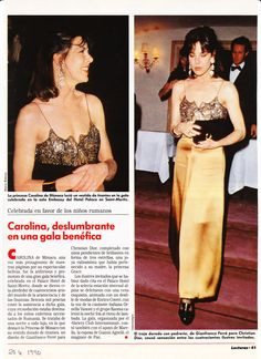 Princess Caroline of Monaco at a gala in St. Moritz.-Lecturas- March 31,1990. page1