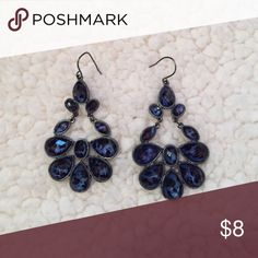 Selling this Blue Leopard Earrings on Poshmark! My username is: emmaeleanora. #shopmycloset #poshmark #fashion #shopping #style #forsale #Francesca's Collections #Jewelry