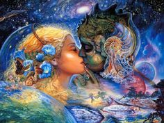 The Fantasy World of Josephine Wall. Josephine Wall Art Paintings of A magical world with celestial goddesses, fairies, and mythological characters, celestial Angles. Josephine Wall, Alex Grey, Fantasy Paintings, Fantasy Art, Wall Paintings, Dark Fantasy, Art Expo, Angel Readings, Psychic Readings