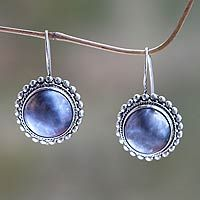 Cultured mabe pearl drop earrings, 'Once in a Blue Moon'  Novica. So pretty!