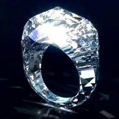 Switzerland-based Shawish Jewelry has created a diamond ring that trumps Beyoncé's 18-carat engagement ring from Jay-Z and even the late Elizabeth Taylor's 30-carat stunner from Richard Burton — a 150-carat diamond ring. And when we say diamond ring, we literally mean a diamond ring. As in: an entire ring completely made out of a huge chunk of diamond, and nothing else.