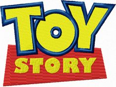 Toy Story Logo machine embroidery design and other cartoons. needleworkru.com