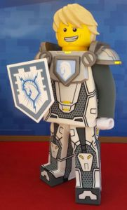Lance Richmond, one of the LEGO NEXO KNIGHTS, is available to greet theme park guests at LEGOLAND Florida Resort.