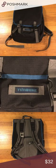 Timbuk2 backpack Timbuktu lightly used laptop backpack. Black and blue. Very comfortable. Timbuk2 Bags Backpacks