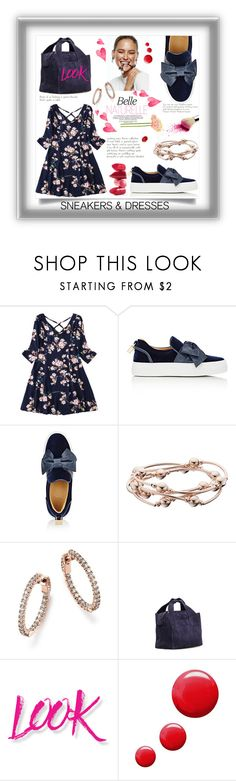 """""""Blu"""" by ornellag ❤ liked on Polyvore featuring BUSCEMI, Bloomingdale's, The Row, NYX, Topshop and Rossetto"""