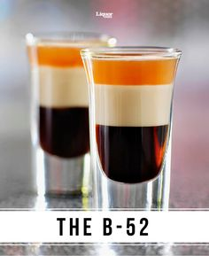 Believed to have originated in the 1970 by a bartender and fan of the iconic band, the B-52 is classic guilty pleasure armed with three liqueurs. Make this layered shot in seconds and impress all your friends.